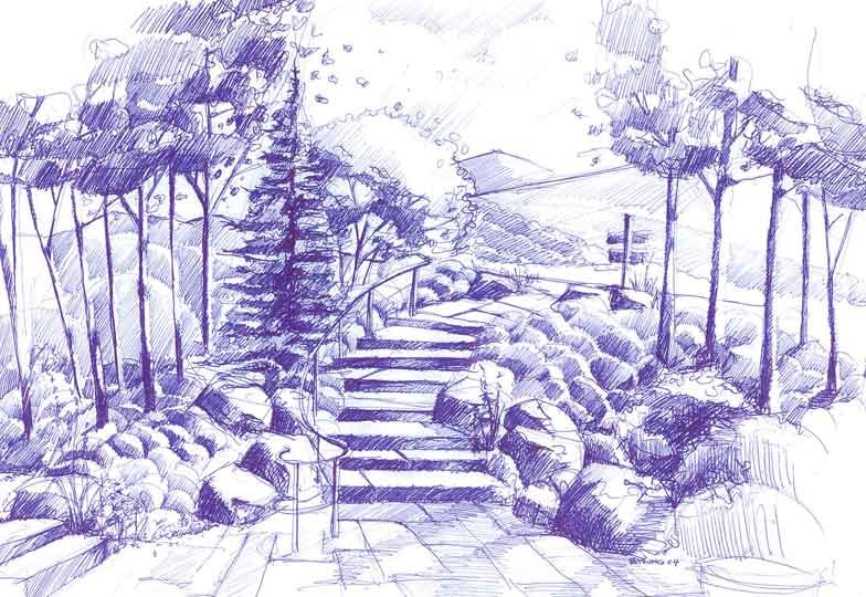 Stair Drawing