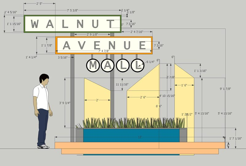 Walnut Ave. Sign Model