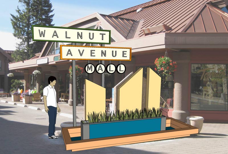Walnut Ave. Sign Model with Photomatch