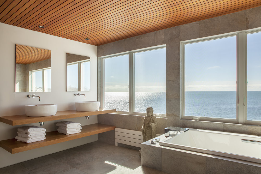 Modern Bathroom with an Ocean View