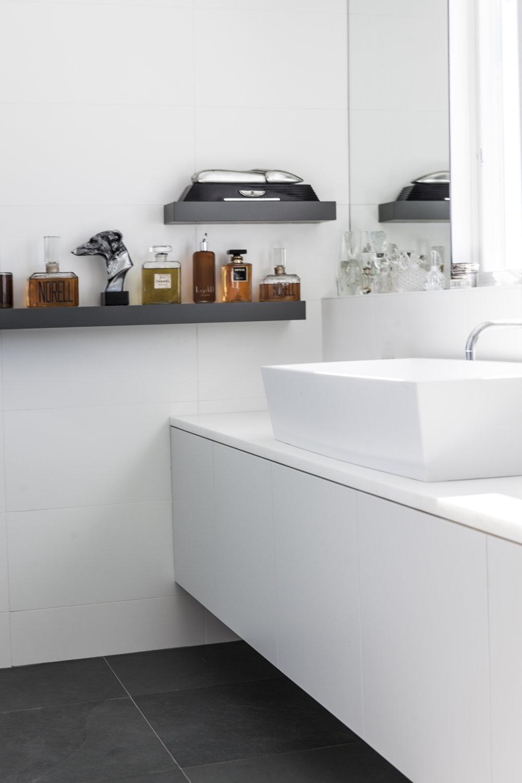 White Modern Bathroom Design Photography