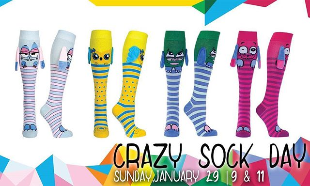 This Sunday in Church is a WACKY one! Because it's crazy sock day! Make sure to wear your craziest socks! #ChurchShouldBeFun