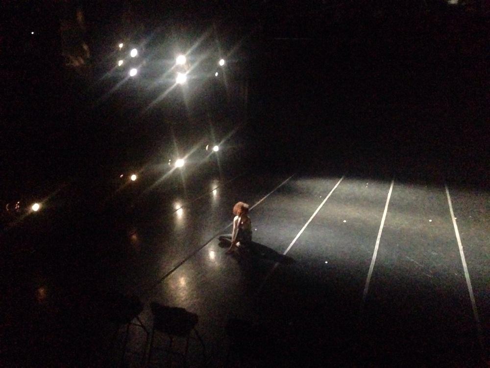 Sam Stone (viv member) inside an exposed moment during tech rehearsals