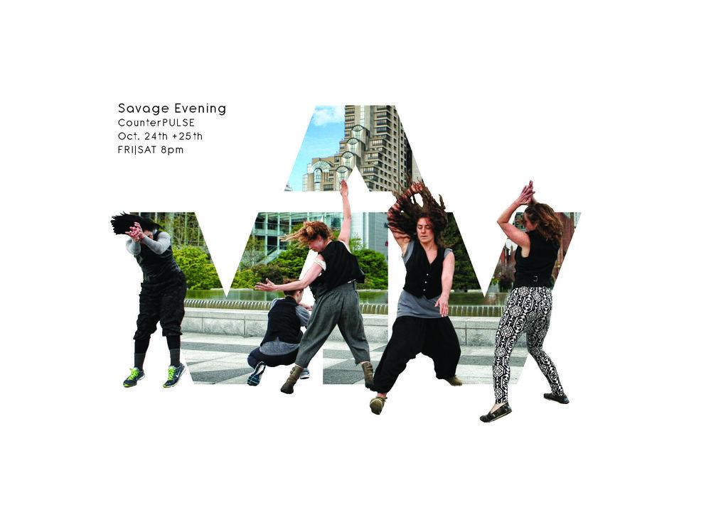 vîv dance company Home Season postcard, 2014