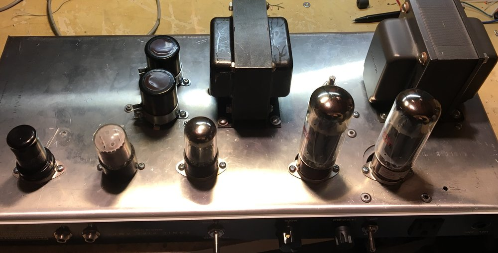 THE SUPER KNOB, All tube handwired 50 watt 2XEL34 with 6SJ7 and 6SN7 octal tubes