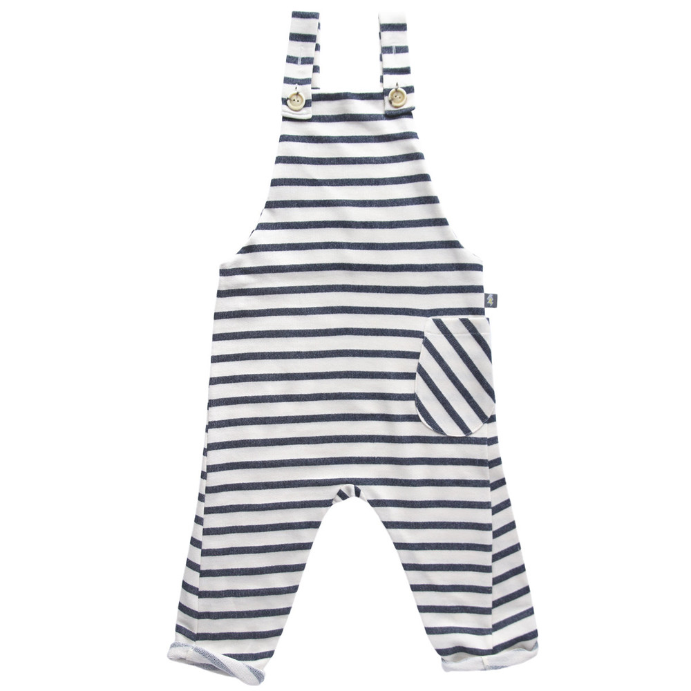 SLOUCH DUNGAREES denim stripe