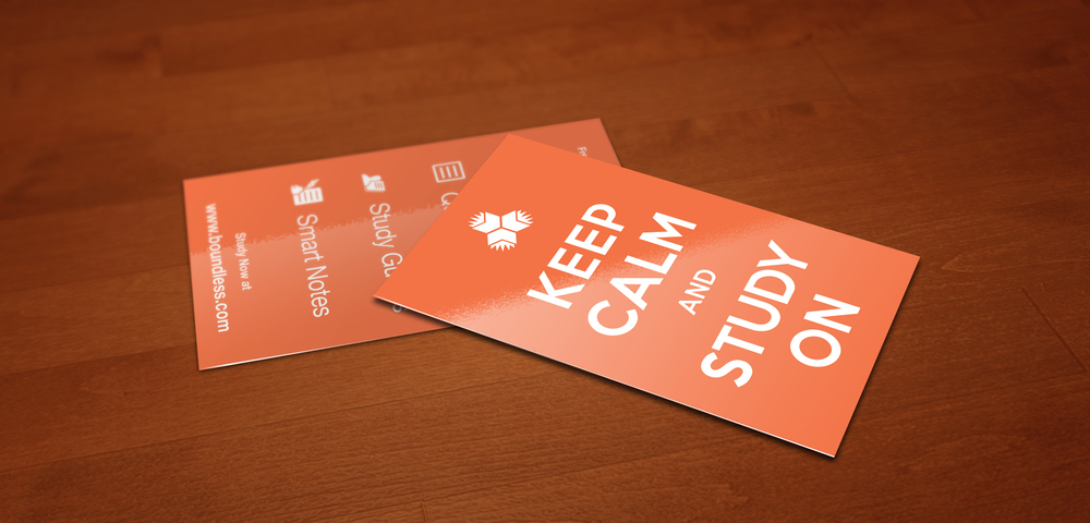 'Keep Calm and Study On' Cards - Concept through Production