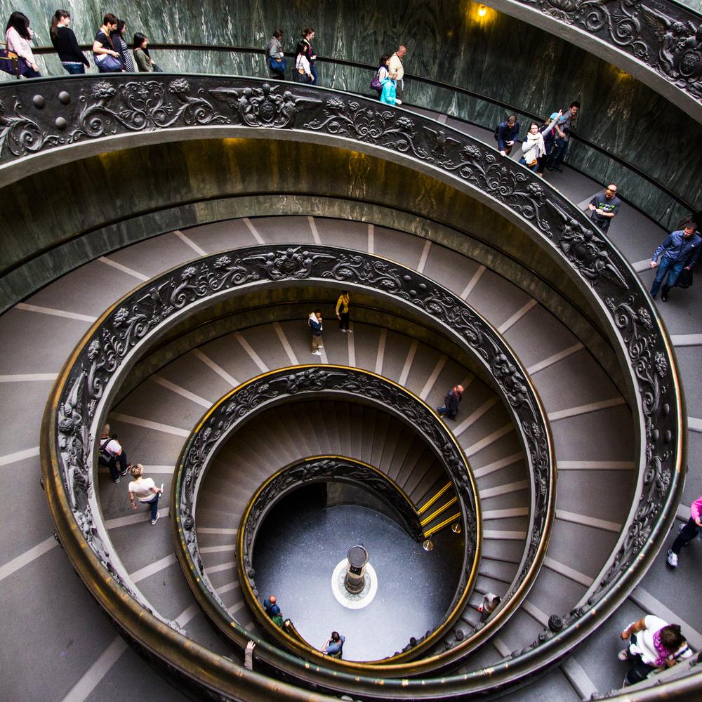 Spiraling Down — Vatican Museum