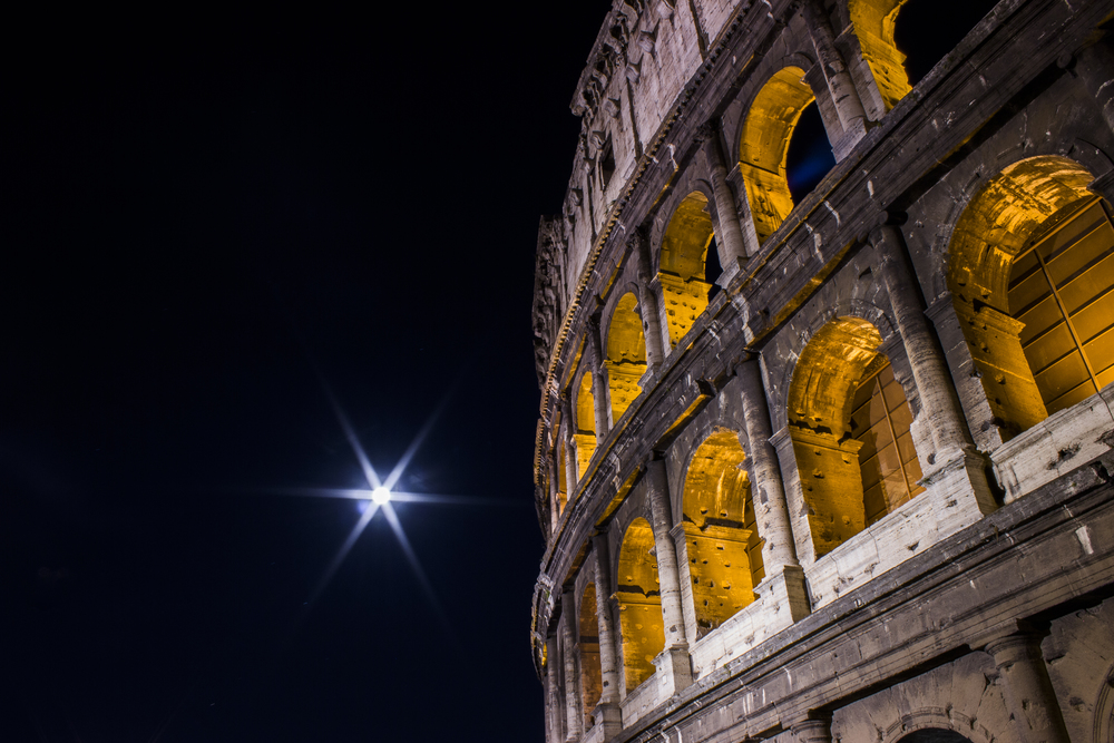 Starry Moon — Colosseum, Rome