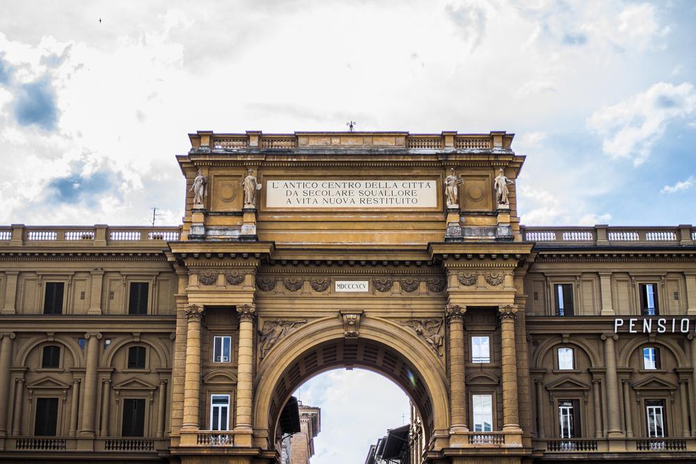 Triumph Deserves an Arch — Piazza della Repubblica, Florence