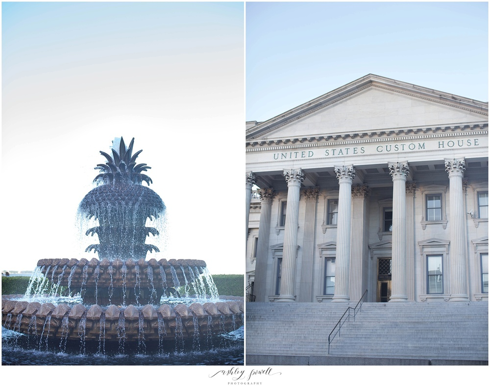 Pineapple Fountain | Charleston, SC|  Ashley Powell Photography