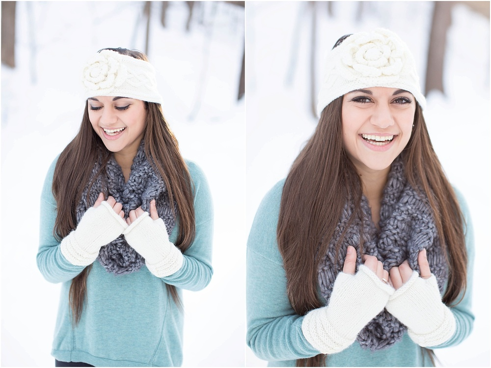 Wintery Roanoke Senior Session | Ashley Powell Photography | Roanoke, Virginia
