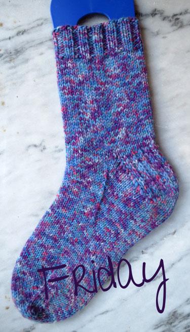 Regia 8-ply, Berry Fusion Socks