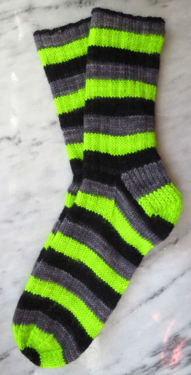 Simply Socks Yarn Co Poste Striping, Poenari Castle Socks