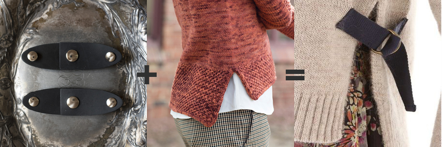 The Oval Latch Closure  with  Carol Feller's Dee Pullover