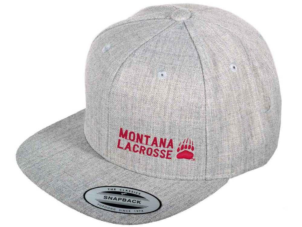 Montana Lacrosse Flat Brim Snap Back Hat - $20