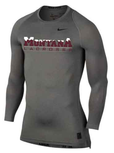 Montana Lacrosse Nike Pro Cool Compression LS - $35
