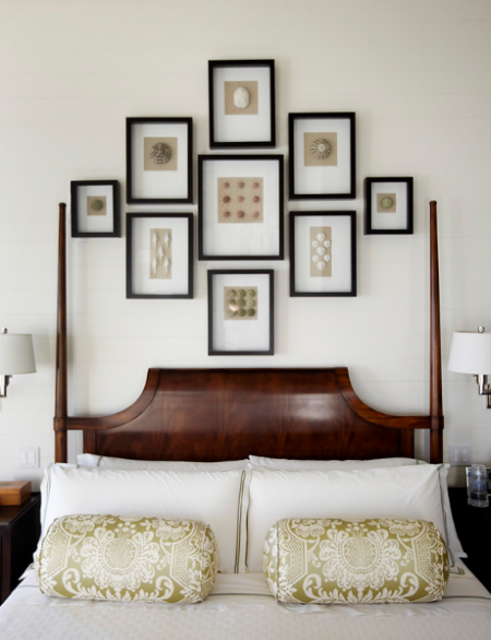 Wall Decor For Over Bed : Hanging pictures on the wall above your bed proceed with