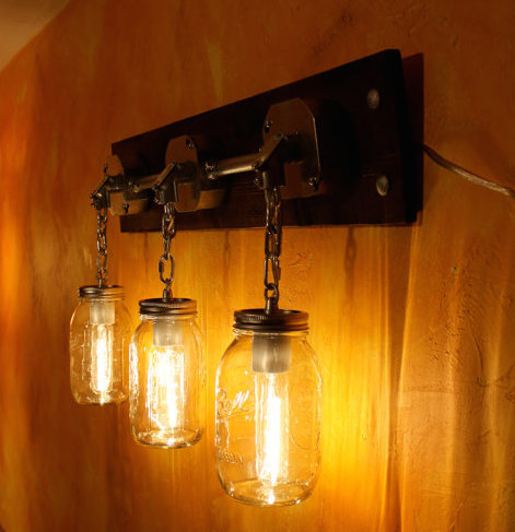 Add flair to your home with repurposed wall sconces youhangit jars of light by miller lights aloadofball Images