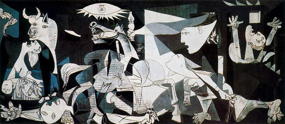 Guernica by Pablo Picasso. Photo credit: wikipictures