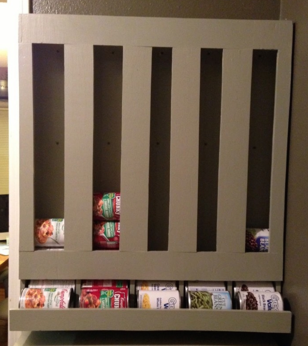 DIY can dispenser. Click to see how it's done!