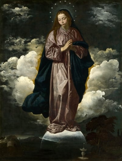 The Immaculate Conception by Diego Velazquez, completed in 1619. From  The National Gallery of London
