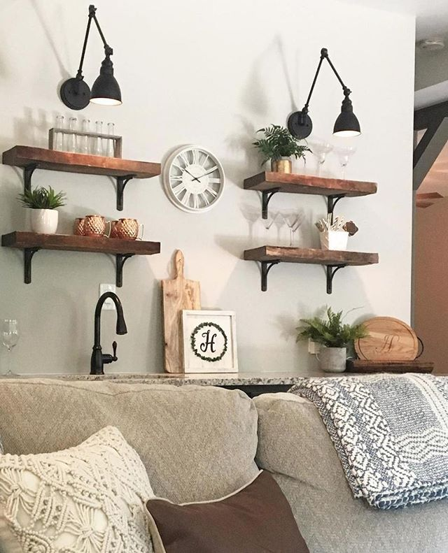 This creative home makeover comes from @handleyhome. The shelves come from reclaimed wood that she found at a salvage yard sale. It's true that you never know how well something will work out until you try it! These shelves would be a breeze to hang and level with the help of YHI. Click the link in our bio to learn more! • • • • #makeover #homemakeover #shelves #wallart #decorations #decorating #decore #interiorismo #interiorinspo #interior#interiores #interiors #homedecor #homedecoration #inspire_me_home_decor  #homedetails #interior123 #homedesign #thestyleluxe #interiordesign