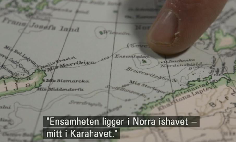 Bild från inslaget om Judith Schalanskys  Atlas över avlägsna öar .