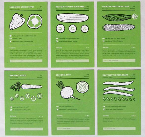 Informationskort om grönsaker från Under Consideration