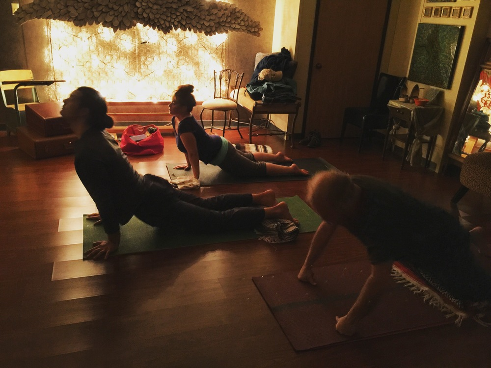 Yoga class Tzivia Stein-Barrett has led at Art Is Life Studio earlier this year.