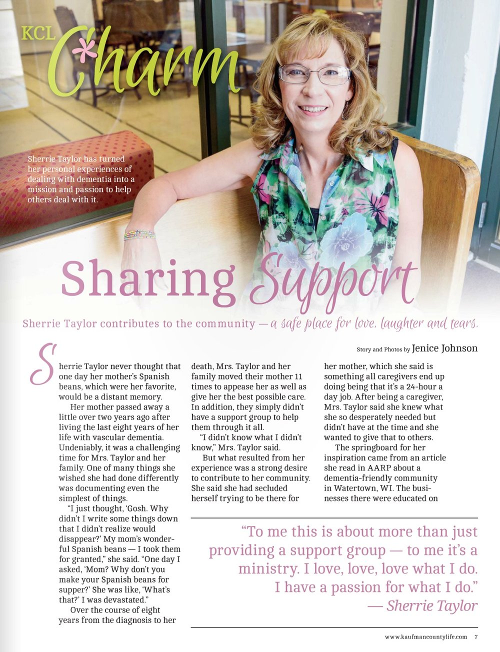 """Sharing Support"" Kaufman County Life"