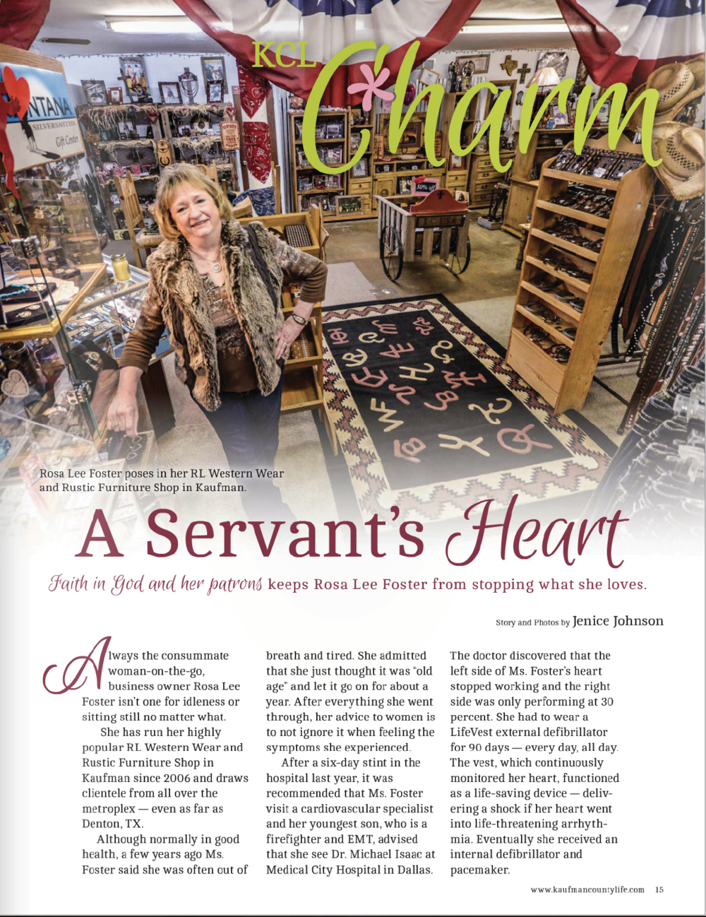 """A Servant's Heart""   Kaufman County Life"