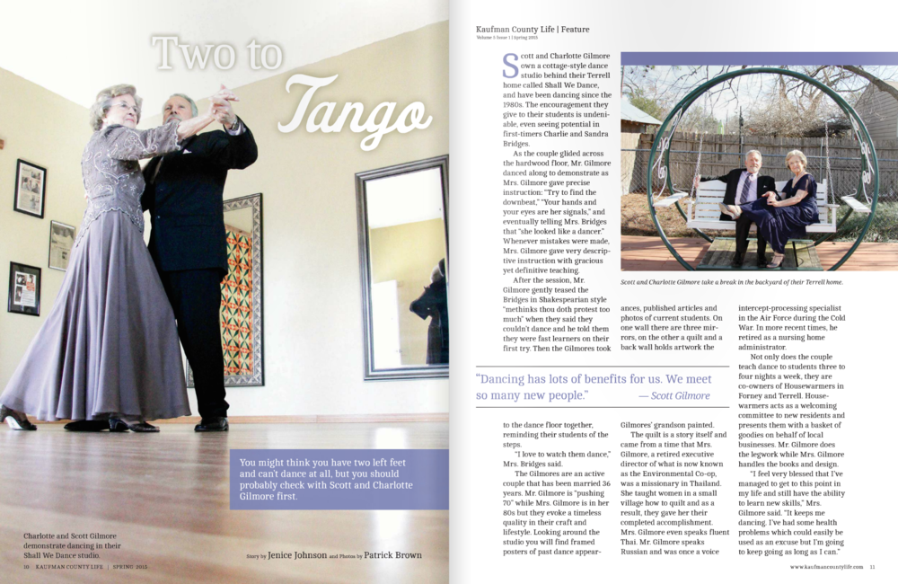 """Two to Tango"" Kaufman County Life"