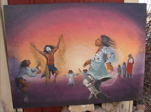 """Lakota Sioux artist's work makes 'the connection that we are all equal'"" tankabar.com"