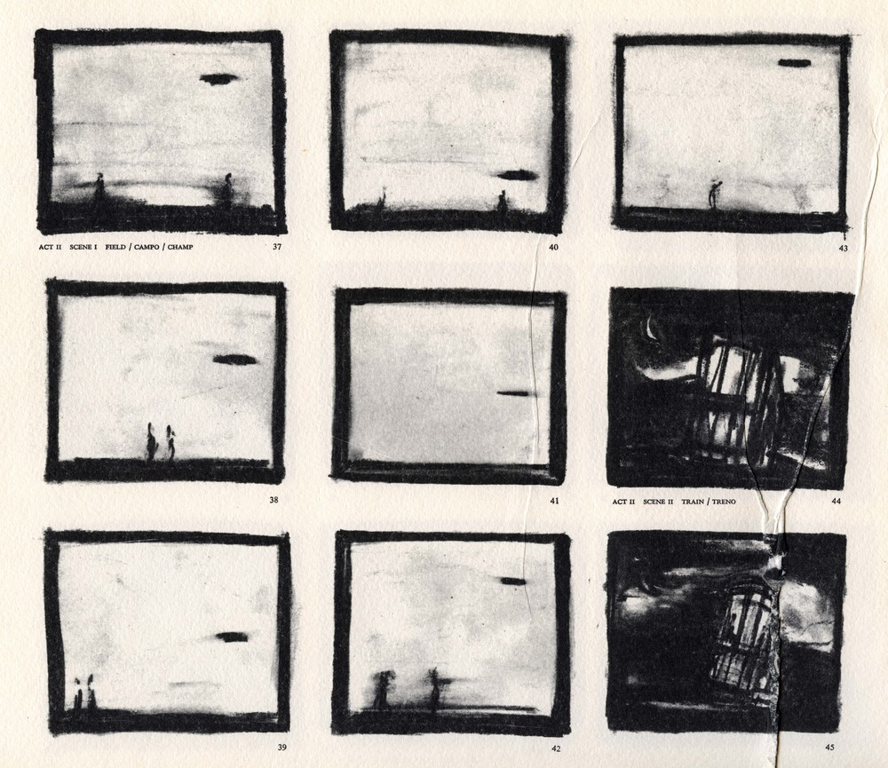 Storyboard from   Einstein on the Beach  , 1976.