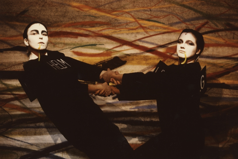 Monika Tahal and Susi Eisenkolb at the Thalia Theater, Hamburg, 1990