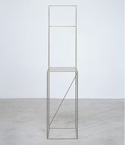 Pierre Curie Chair from  De Materie , 1989.  From an edition of 15, this piece was produced by La Paloma under the supervision of Paula Cooper Gallery, New York.    Designed by Robert Wilson
