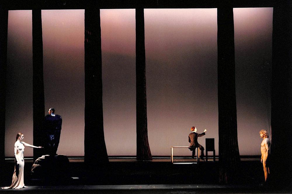 Act IV, Scene 3 - Geno Lechner (Whore), Michel Honesseau (Bird), Martin Wuttke (Gilgamesh), Howie Seago (Enkidu)