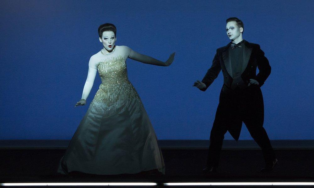 Act I: Nadezhda Pavlova (Violetta), Boris Rudak (Alfredo). Perm, 2016