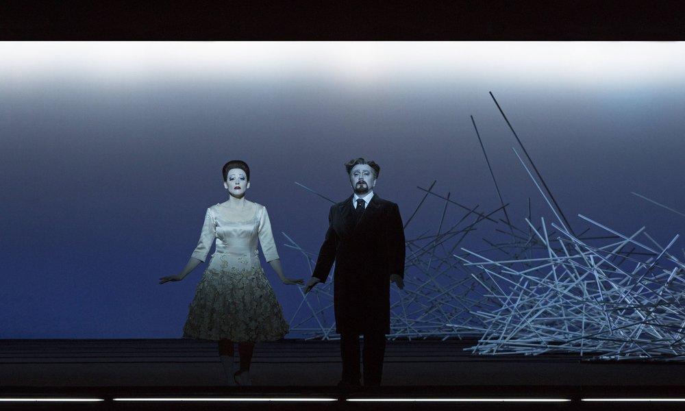 Act II, Scene 1: Nadezhda Pavlova (Violetta), Andzhei Beletskiy (Giorgio Germont). Perm, 2016