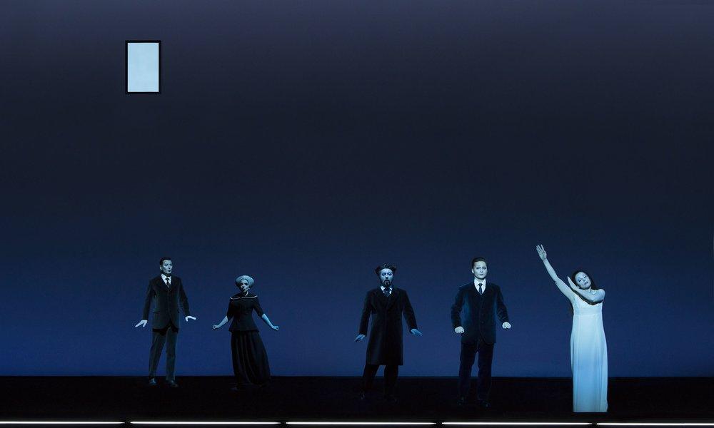 Act III: Aleksandr Yegorov (Doctor), Eleni Stamellou (Annina), Andzhei Beletskiy (Giorgio Germont), Boris Rudak (Alfredo), Nadezhda Pavlova (Violetta). Perm, 2016