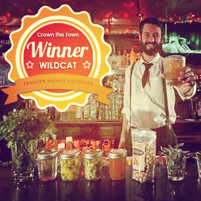 Congratulations Wildcat Lounge for winning the title of best Farmer's Market Cocktail in #SB! Their spicy #margarita was incredible! #crownthetown #wildcatsb #cocktails