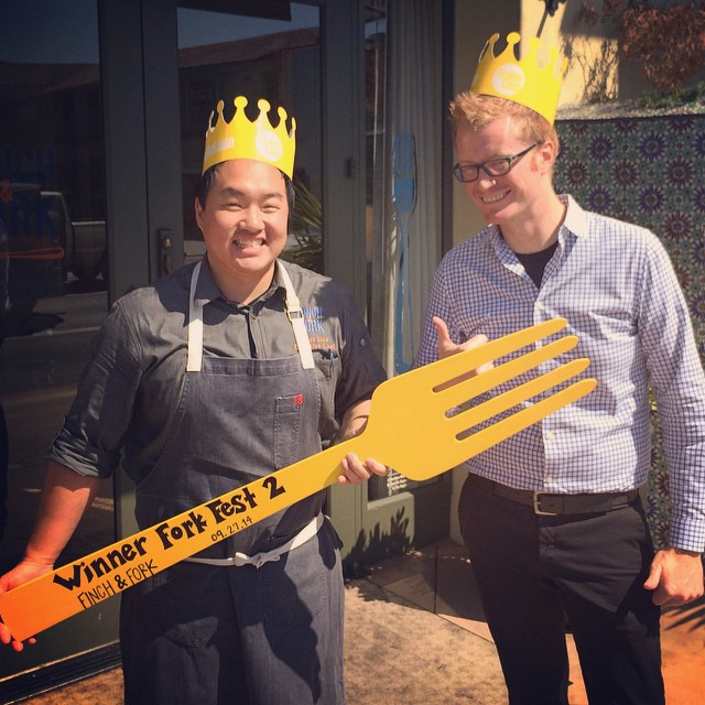 Congratulations to Finch & Fork for being crowned the winner of Fork Fest 2! Their chicken meatball was killer!  Thanks to everyone who came and to all of the participating restaurants! We had a great time & hope you did too! #wegotforked #crownthetown #finchandfork