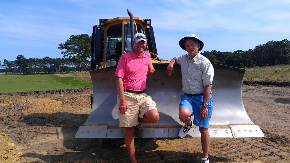 Gil Hanse and Bill Murray, Vineyard Golf Club