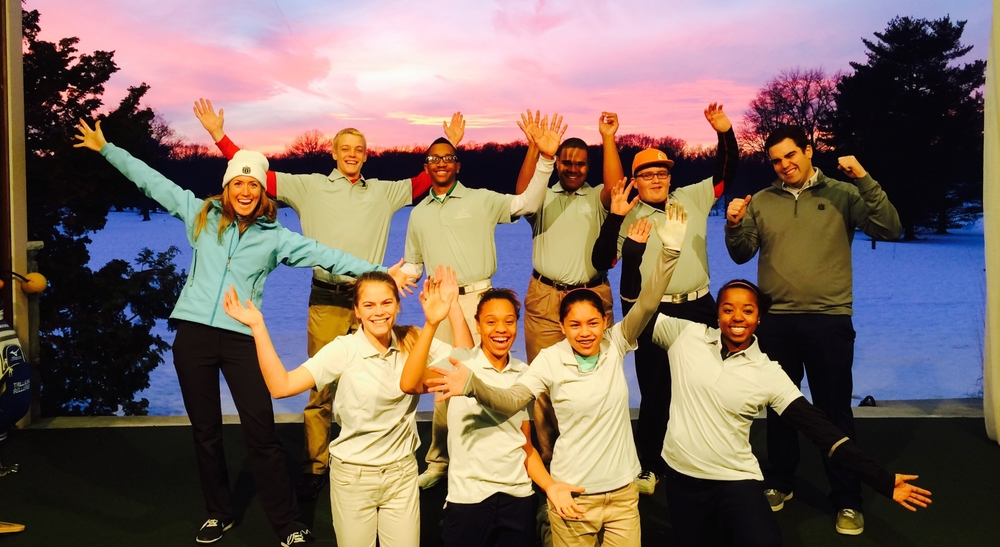 Working with fantastic kids from The First Tee