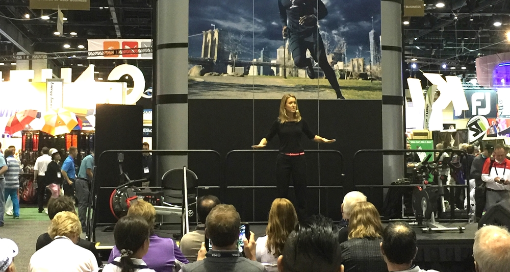 Presenting at the PGA Show on the TPI stage