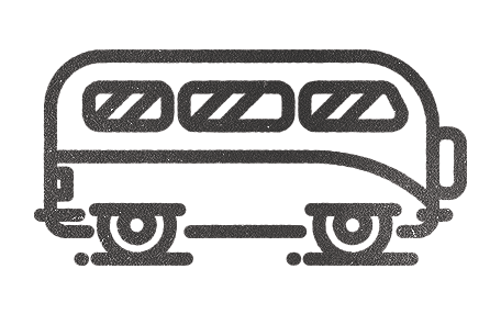 Volkswagen bus icon illustration