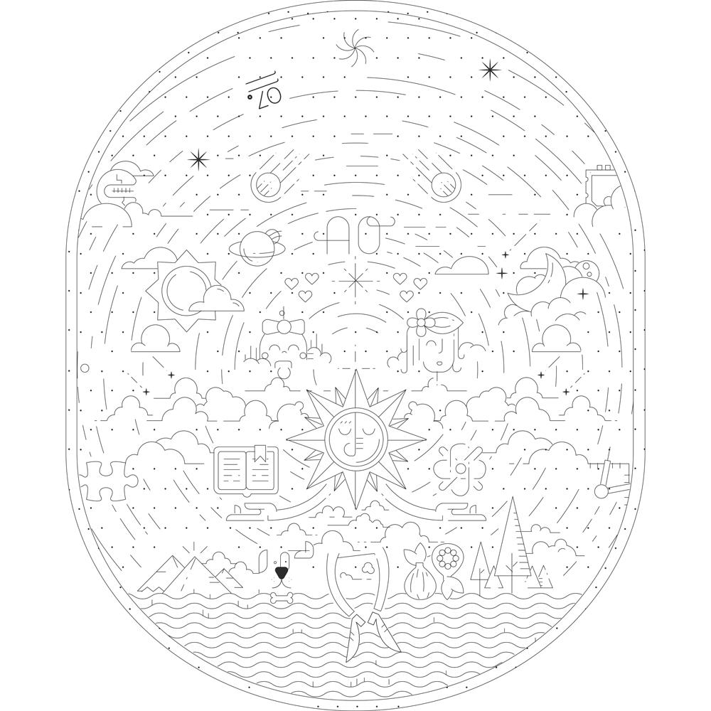 Universe minimal tattoo