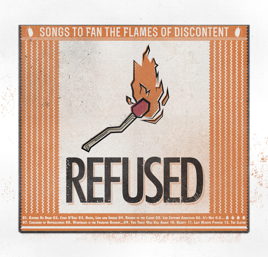 Refused music ticket stubs design