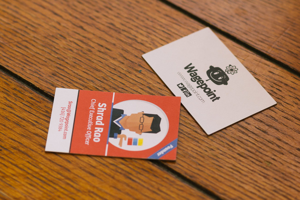 Wagepoint portrait illustrated business cards